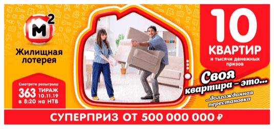 363 тираж Жилищной лотереи