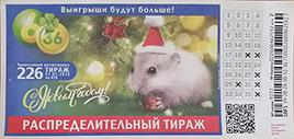 Билет новогоднего 226 тиража 6 из 36