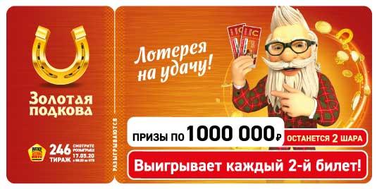 Проверить билет 246 тиража Золотой подковы